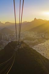 Rio Sundown (Zur@imiAbro@d) Tags: sunset brazil riodejaneiro corcovado gondola sugarloaf sunrays carioca paodeacucar zurimiabrod