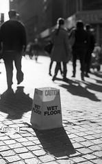 no dry floor here (Tanya Skvortsova) Tags: street nyc travel bw newyork film us nikon october f100 analogue wallstreet manhatten 2012