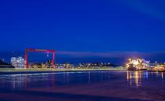 Gothenburg harbor (Fredrik Sundqvist) Tags: ocean city longexposure nature water night lights harbor boat nikon