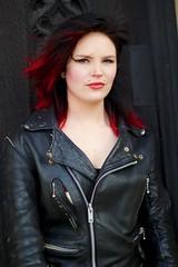 IMG_1241 (Neil Keogh Photography) Tags: red green girl manchester hellokitty gothgirl urbis tartan tartanskirt cathedralgardens newrockboots manchestercitycenter modelchristine