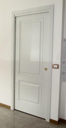 Porta interna pantografata scorrevole interno muro due pannelli