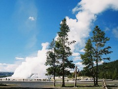 Old Faithful (Tony Garofalo) Tags: rural america walking landscape outdoors countryside us nationalpark unitedstates hiking oldfaithful scenic yellowstonenationalpark yellowstone wyoming geyser continentaldivide