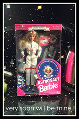 Mattel We Girls Can Do Anything Astronaut Barbie 1994 (taylordolls) Tags: white dark doll glow space helmet barbie astronaut ufo blond 1994 edition cosmos spacesuit mattel career