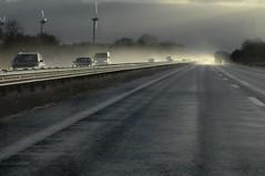 Nach dem Schnee-Schauer auf der A 1 HS8_0279 (Chironius) Tags: auto germany deutschland autobahn alemania a1 allemagne germania gegenlicht bab niedersachsen e37 bundesautobahn   bundesautobahn1 hansalinie europastrase37