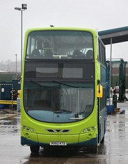 Green thing (georgeupstairs) Tags: bus green volvo birkenhead wright hybrid gemini2 arrivanorthwest lairdstreet b5lh mx62ktd