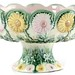 159. Majolica Floral Center Bowl