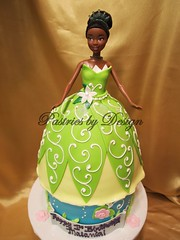 P1017891 (Pastries by Design) Tags: cake carved doll princess shaped disney tiana