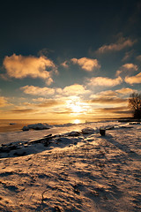K7_13814 (Bob West) Tags: winter sunset ontario ice beach clouds lakeerie greatlakes 4c k7 southwestontario bobwest pentax1650f28