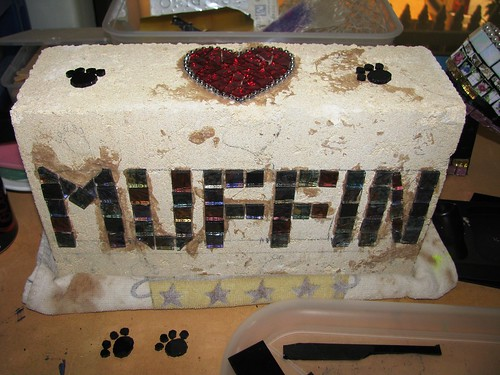 "WIP - Doggy memorial stone ""Muffin"""