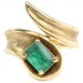 1033. Gold and Tourmaline Bypass Ring