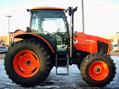 Kubota M110GX Tractor. (dccradio) Tags: wisconsin mall farming equipment machinery ag agriculture wi agricultural farmequipment farmshow marshfield farmmachinery centralwisconsin shoppesatwoodridge marshfieldmall wisconsinfarming machineryshow agshowagricultureshow