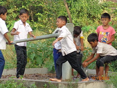 Cambodia: Boys Play Outside (Global Partnership for Education - GPE) Tags: cambodia deepasrikantaiah 2012 primaryeducation basiceducation math numeracy globalpartnershipforeducation gpe