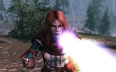 Auriel ENB: Mage Adventures (modd3r86) Tags: landscape fire witch muscle magic lightning tes mage skyrim