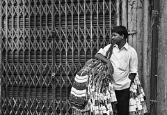 A gated future (Ready_to_roll) Tags: market bangalore cloth seller