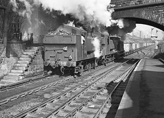 50 years ago today! 94xx class nos. 8409 & 9493. Lickey Incline. 2 March 1963 (ricsrailpics) Tags: 1963 drrbeeching