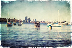 The City seen from the Matilda Bay (B.M.K. Photography) Tags: boats city cbd perth river textured australia