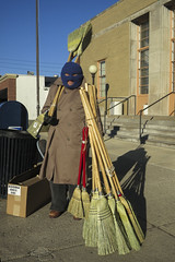 Blind Broom Seller of Indy (Ted Somerville) Tags: indianapolis indy indiana hoosier naptown