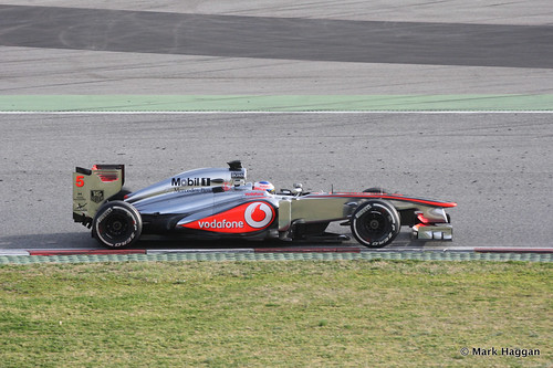 Jenson Button in his McLaren in Formula One Winter Testing, 3rd March 2013