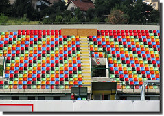 Sarajevo Football C(olors) 2 (vittorio vida) Tags: colors sport composition football stadium sarajevo bosnia objects seats bih