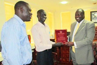 South Sudanese students meet the Vice President