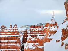 bryce canyon skinny hoodoo at sunset peak (houstonryan) Tags: park county winter snow art home print landscape photography utah photographer ryan hiking snowy houston canyon hike fresh system national fallen layer bryce redrock sell decor garfield hang freshly snowed houstonryan