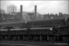 Tacoma Trains (romamar76) Tags: bridge station train hospital washington amtrak unionpacific tacoma coal 21stst sr509 theafoss cablestayed