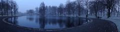 Parky (Bricheno) Tags: park winter panorama snow reflections scotland pond escocia szkocja renfrew schottland robertsonpark scozia cosse  esccia   bricheno scoia