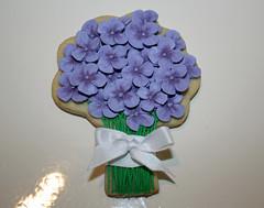 Hydrangea Bouquet (TheHungryHippopotamus) Tags: cookie hydrangea handdecorated customdesign cookieart hydrangeabouquet