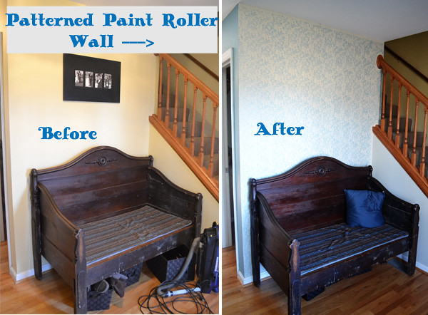 patterned paint roller wall