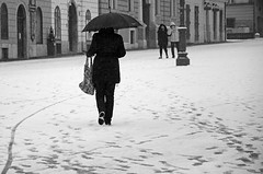...alone... (Tom Plevnik) Tags: street camera new city people urban film public landscape photography photo nikon flickr candid places human ljubljana fujifilm bnw xpro1