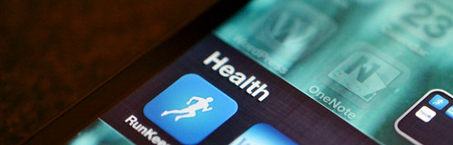 Runkeeper and health on iPhone by Jason A. Howie, on Flickr