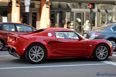 Lotus Elise California (R6PhgRPh) Tags: california street roof red car boston lens nikon automobile doors lotus elise massachusetts wheels wing engine fast tires panning limited edition coupe boylston removable 18x55mm d5100