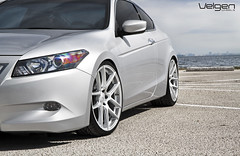 Honda Accord Coupe 8thGen on VMB5 Matte Silver (VelgenWheels) Tags: pictures auto usa canada cars japan honda