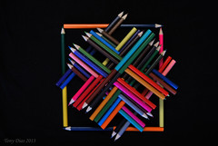 Pencil harmony (Tony Dias 7) Tags: colour macro composition pencils square