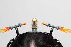 Jar Jar Binks LEGO Headband (dr_spock_888) Tags: lego moc star wars missiles headband hair jar binks head band