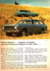 1968 XT Ford Falcon Sedan & Wagon More...More...Mustang Page 7 Aussie Original Magazine Advertisement (Darren Marlow) Tags: 1 6 8 9 19 68 1968 x t xt f ford falcon s sedan w wagon c ar cool collectible collectors classic a automobile v vehicle aussie australian australia 60s