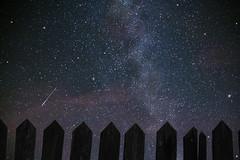 Capture of a shooting star (Sofyho) Tags: sky france europe ciel etoiles stars extrieur exterior milky way voie lacte nuit dark et summer sofyho canon canonfrance 70d