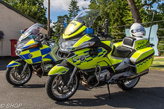 Police Bikes - Old Warden Edwardian Pageant 2016 (harrison-green) Tags: old warden shuttleworth collection air show airshow 2016 edwardian pageant aircraft aviation world war 2 two ii display shgp steven harrisongreen photography canon eos 700d sigma 150500mm 18250mm raf royal force navy fleet arm carrier hawker hurricane sea mk1 outdoor airplane vehicle t6 texan harvard usaaf usaf united states army corps sopwith triplane 1 one dixie gloster gladiator police bike motorbike