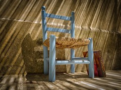 Still life with chair and book (ParadoX_Design) Tags: still life chair book sun shadow old vintage characteristic blue pascal pensees