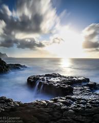 Queen's Bath II (elicarpenter) Tags: long exposure queensbath sky longexposure sunset blue hawaii kauai