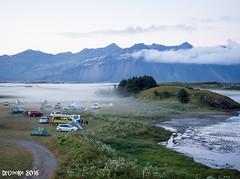 Campistas en la niebla (P8052095_1280) (dr_cooke) Tags: islandia iceland hfn campsite lake reflection dusk anochecer reflejo camping niebla fog mist