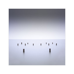 * 12 Poles * (^soulfly) Tags: longexposure daytime simplicity minimalistic malaysia perak lumut canon5dmark2 ef1440mm bwfilter nd110