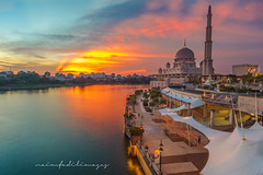 Cloudy Boulevard | Sunset (naimfadil) Tags: malaysia landscape sunset travel 5dmarkii mosque islam faith peace tranquility