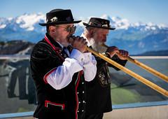 Swiss alphorn playing artists (nishantdhumane) Tags: people horn swiss europe alps swissalps