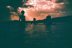 the great outdoors (fotobes) Tags: boys children kids water lake negratnreservoir negratin lakenegratin reservoir sky clouds fujivelvia100 xpro crossprocess crossprocessed lca spain hills