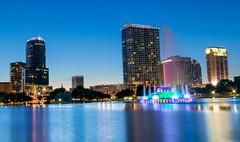 The City Beautiful (blazerowner) Tags: lake eola park orlando fl downtown water fountain lakeside night sunset dusk hdr luminosity mask masking nikon d3300