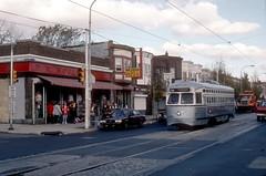 SEPTA 2728 fantrip 1996 (jsmatlak) Tags: philadelphia septa pcc trolley streetcar tram electric railway woolworth torresdale