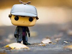 The case of the disappearing Summer... (Puffer Photography) Tags: stilllife utah minifigs actionfigures alpine nature toys funkofantasy sherlock 2016 pop television funko