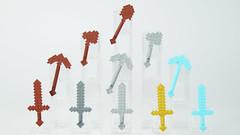 Minecraft Tools & Swords (BRICK 101) Tags: lego minecraft