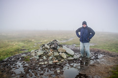 1 Fogy Peak (daedmike) Tags: beinndubh glenstriddlehorseshoe luss hillwalking scotland lochlomond hill fog mist cloud hillmarker bogg rain drizzle stones rocks fence miserable